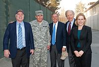 Senator Lieberman with bipartisan delegation John McCain (R-AZ), Lindsey Graham (R-SC) and Kirsten Gillibrand (D-NY) visit International Security Assistance Force in Afghanistan and Commander of NATO and ISAF David H. Petraeus in 2010