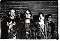 """Pavement, one of several bands to name R.E.M. as an influence—they even wrote the song """"Unseen Power of the Picket Fence"""" in honor of them."""