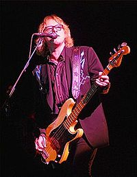 Bassist Mike Mills performing in concert in 2008