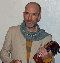 Michael Stipe has used his celebrity status to support political and humanitarian causes; he is seen here at the 2007 Tribeca Film Festival, which was created to renew that neighborhood of New York City after the September 11 attacks.