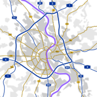 Major roads through and around Cologne