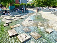 Water feature in Cologne, Germany, summer of 2017.