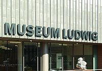 The Museum Ludwig houses one of the most important collections of modern art.