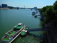 Rhine River at Cologne, Germany.