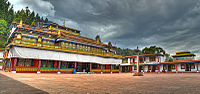 Rumtek Monastery in Sikkim was built under the direction of Changchub Dorje, 12th Karmapa Lama in the mid-1700s.<ref>Achary Tsultsem Gyatso; Mullard, Saul & Tsewang Paljor (Transl.): A Short Biography of Four Tibetan Lamas and Their Activities in Sikkim, in: Bulletin of Tibetology Nr. 49, 2/2005, p. 57.</ref>