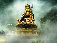 Padmasambhava lived during the 8th-century and is credited for the construction of the first Buddhist monastery in Tibet at Samye.