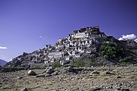 Thikse Monastery is the largest gompa in Ladakh, built in the 1500s.
