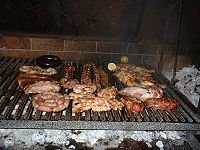 Argentine beef as asado, a traditional dish