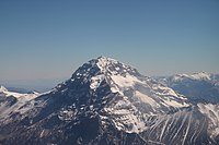 Aconcagua is the highest mountain outside of Asia, at 6960.8 m, and the highest point in the Southern Hemisphere.
