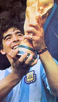 Diego Maradona, one of the FIFA Player of the 20th Century
