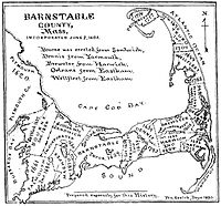Barnstable County historical map, 1890