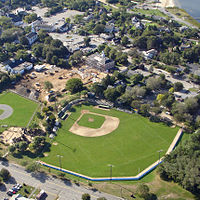 Veteran's Field in Chatham, Massachusetts, home of the Chatham Anglers