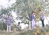 Small Faces in 1967. This photo was later used as the album cover for their US-only album There Are But Four Small Faces