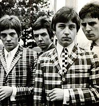 Small Faces in 1965 (left to right) Marriott, Lane, Jones and Winston