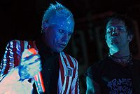 The Prodigy frontman Keith Flint and live member, Rob Holliday.