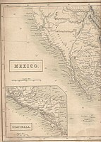 Map showing Alta California in 1838, when it was a sparsely populated Mexican province
