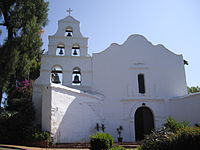 Mission San Diego de Alcalá, first of the Spanish missions in California