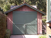 """The """"Birthplace of Silicon Valley"""" garage, where Stanford University graduates William Hewlett and David Packard developed their first product in the 1930s"""