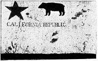The Bear Flag of the California Republic was first raised in Sonoma in 1846 during the Bear Flag Revolt.