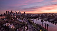 Los Angeles is the second most populous city in the U.S., after New York City.