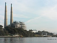 Moss Landing Power Plant, located on the coast of Monterey Bay.