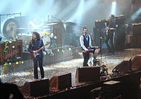 The band during their first arena tour in 2007.