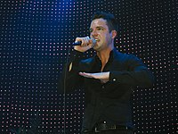 Brandon Flowers during the Day & Age World Tour