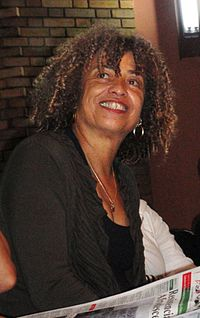 Angela Davis (born 1944) is an American political activist, philosopher and author. Her research interests include African-American studies and the philosophy of punishment and prisons.