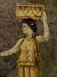 Hipparchia of Maroneia. Detail from a Roman wall painting in the Villa Farnesina in Rome.