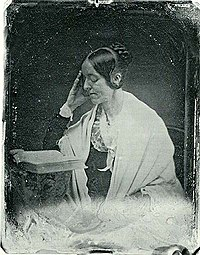 The only known daguerreotype of Margaret Fuller (by John Plumbe, 1846).