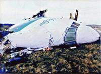 Nose section of Pan Am Flight 103