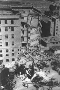 The King David Hotel, Mandatory Palestine, after the 1946 bombing.