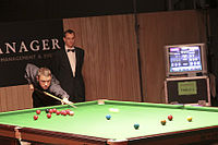 Hendry at the Brugge Open 2010