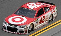 Kyle Larson's Generation 6 Chevrolet SS Cup Series vehicle.