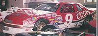 Bill Elliott's Melling Racing car that set the record for the fastest lap in a stock car – 212.809 mph, 44.998 seconds at Talladega Superspeedway.