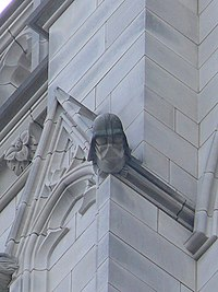 The Darth Vader Grotesque sculpted into the Washington National Cathedral