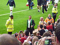 Cantona at Old Trafford with the Cosmos, 5 August 2011