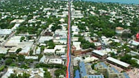 The mile-and-a-quarter-long flag (1.25 mi) stretching across Key West in 2003