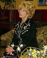 Seely on the set of the play, Could It Be Love. She played the main character of Mabel from 2004 to 2007 during the show's run.
