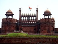 The Lahori Gate of Red Fort from Chandni Chowk.