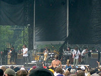 Incubus performing at the Virgin Festival in Baltimore in 2007