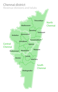 Divisions of Chennai district.