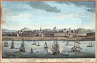 An 18th-century portrait depicting Fort St. George, the first major English settlement in India and the foundation stone of Chennai