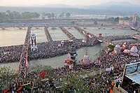 The Haridwar Kumbh Mela is held in every 12 years and the date is determined by Hindu astrology.