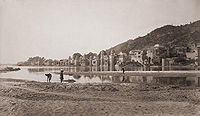 Haridwar from the opposite bank of the Ganges, 1866