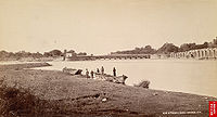 Head of the Ganges Canal, Haridwar, ca 1894–1898.