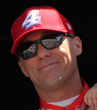 Kevin Harvick received the pole position after time trials were canceled.