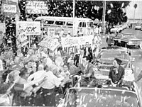 Campaign parade for Richard Nixon in St. Petersburg, October 18, 1960