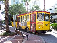 Trolley serving Downtown
