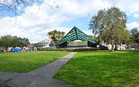 Williams Park with bandshell, one of the many public green spaces in the area